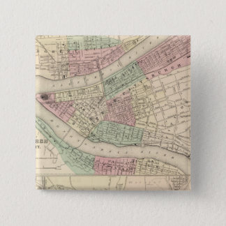 Pittsburgh and Allegheny, Pennsylvania 15 Cm Square Badge
