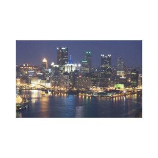 Pittsburgh at night canvas print