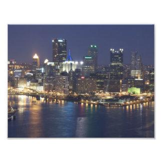 Pittsburgh at night photograph