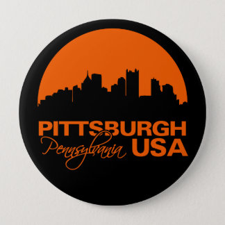 PITTSBURGH button - huge, customizable