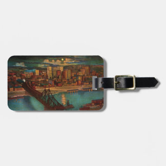 Pittsburgh By Moonlight Luggage Tag
