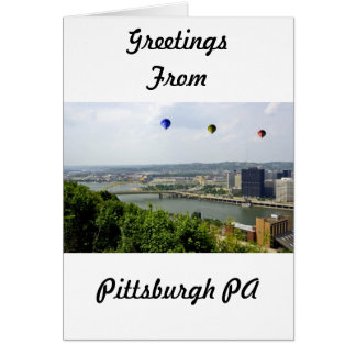 Pittsburgh City Pennsylvania Card