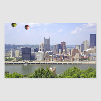 Pittsburgh City Pennsylvania Rectangular Sticker