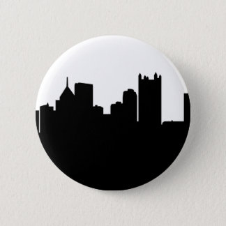 Pittsburgh City Skyline 6 Cm Round Badge