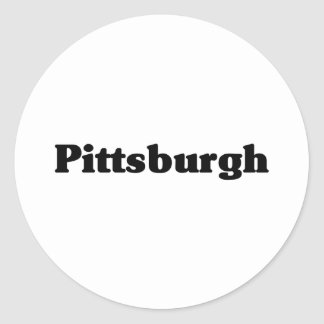 Pittsburgh  Classic t shirts Classic Round Sticker