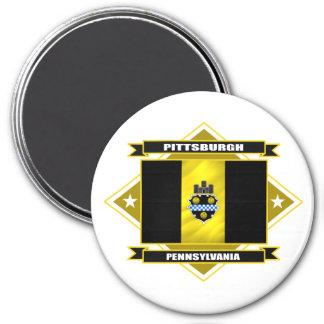 Pittsburgh Diamond 7.5 Cm Round Magnet