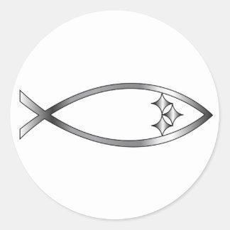 Pittsburgh Fish Round Sticker