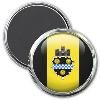 Pittsburgh Flag Glass Ball Magnet