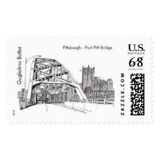 """Pittsburgh, """"Fort Pitt Bridge"""" Stamp"""