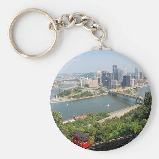 Pittsburgh from Mt Washington Key Ring