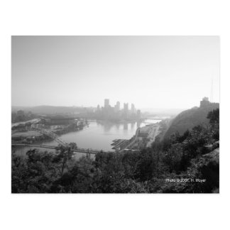Pittsburgh from the West End Overlook postcard