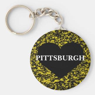 Pittsburgh Heart Key Ring