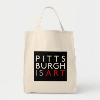 Pittsburgh is Art Reusable Grocery Bag