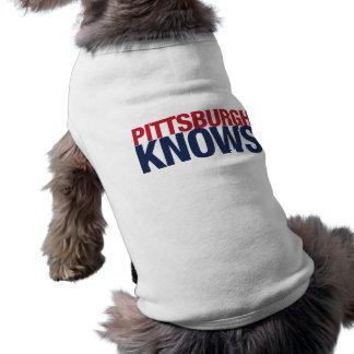 Pittsburgh Knows Sleeveless Dog Shirt