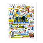 Pittsburgh Language Fun Pittsburghese Artwork Postcard