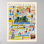 Pittsburgh Language Fun Pittsburghese Artwork Poster