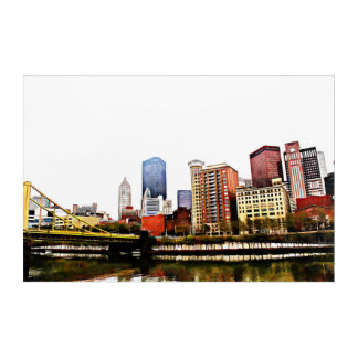Pittsburgh on Acrylic Acrylic Print