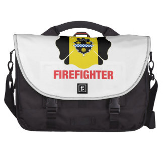 Pittsburgh, PA Flag Volunteer Firefighter Cross Computer Bag