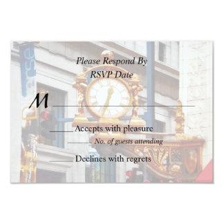 Pittsburgh PA - Meet Me Under the Clock Wedding 9 Cm X 13 Cm Invitation Card