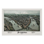 Pittsburgh, PA Panoramic Map - 1902 Poster