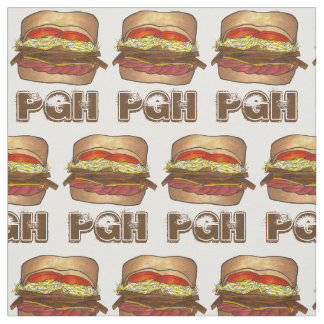 Pittsburgh PA Pennsylvania PGH Sandwich Foodie Fabric