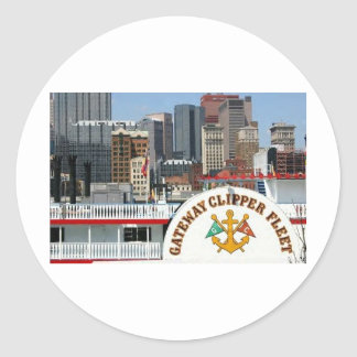 Pittsburgh Pa photography Round Sticker