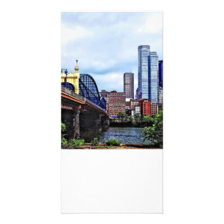 Pittsburgh PA - Pittsburgh Skyline by Smithfield S Photo Greeting Card