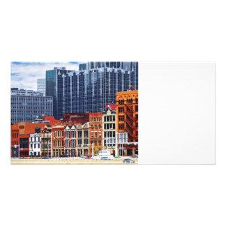 Pittsburgh PA Skyline Closeup Custom Photo Card