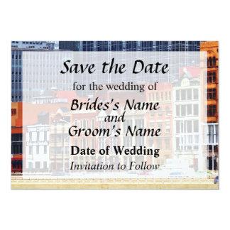 Pittsburgh PA Skyline Closeup Save the Date 13 Cm X 18 Cm Invitation Card