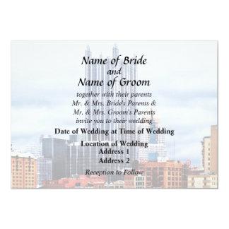 Pittsburgh PA Skyline Wedding Supplies 13 Cm X 18 Cm Invitation Card
