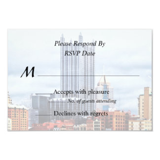 Pittsburgh PA Skyline Wedding Supplies 9 Cm X 13 Cm Invitation Card