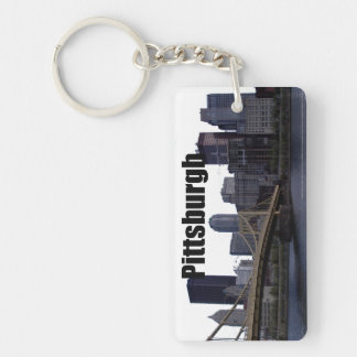 Pittsburgh PA Skyline with Pittsburgh in the Sky Key Ring