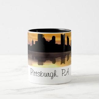 Pittsburgh, PA Two-Tone Coffee Mug