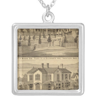 Pittsburgh, Pennsylvania 2 Silver Plated Necklace