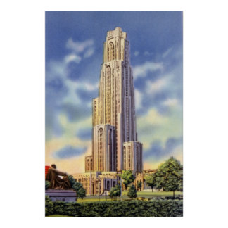 Pittsburgh Pennsylvania Cathedral of Learning Poster