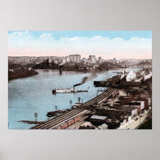 Pittsburgh Pennsylvania Ohio Allegheny Monongahela Poster