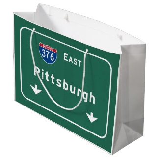 Pittsburgh Pennsylvania pa Interstate Highway : Large Gift Bag