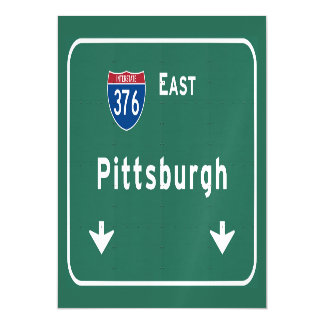 Pittsburgh Pennsylvania pa Interstate Highway : Magnetic Invitations