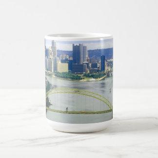 Pittsburgh Pennsylvania Rivers Basic White Mug
