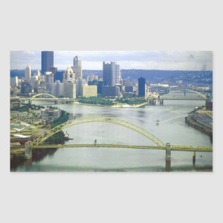 Pittsburgh Pennsylvania Rivers Rectangular Sticker