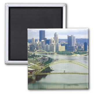 Pittsburgh Pennsylvania Rivers Square Magnet