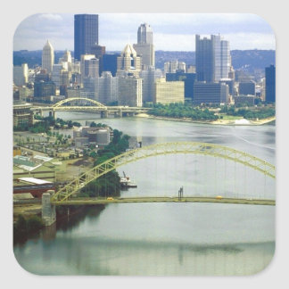 Pittsburgh Pennsylvania Rivers Square Sticker