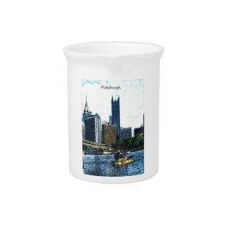 Pittsburgh Pennsylvania Skyline Beverage Pitcher