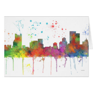 PITTSBURGH PENNSYLVANIA SKYLINE CARD