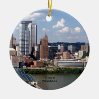 Pittsburgh, Pennsylvania Skyline Christmas Ornament
