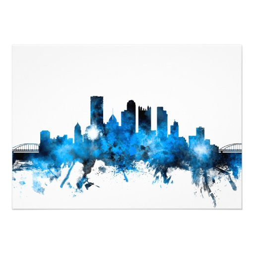 Pittsburgh Pennsylvania Skyline Personalized Announcements