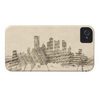 Pittsburgh Pennsylvania Skyline Sheet Music Citysc iPhone 4 Case-Mate Cases
