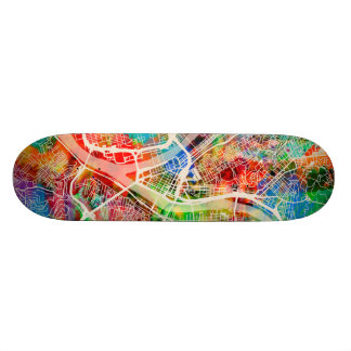 Pittsburgh Pennsylvania Street Map Skate Board Deck