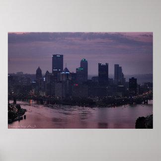 Pittsburgh Purple Dawn Poster