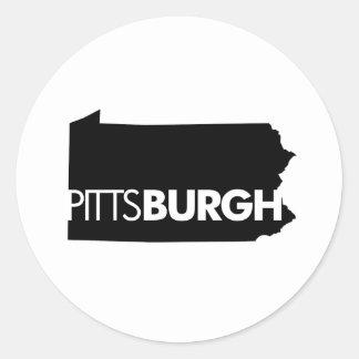 Pittsburgh Round Sticker